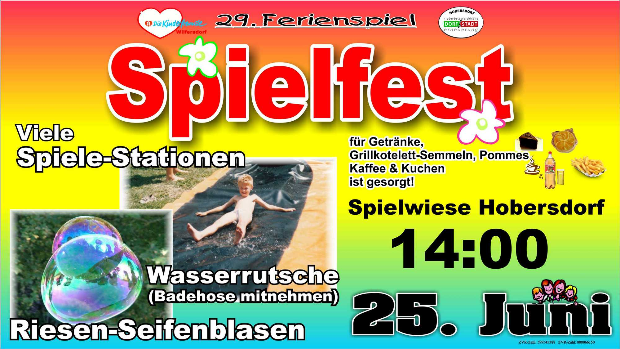 Spielfest auf der Spielwiese Hobersdorf