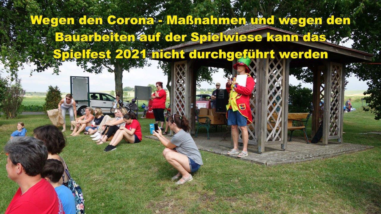 Leider kann das Spielfest wegen den Corona-Maßnahmen und den Baurbeiten auf der Spielwiese nicht stattfinden